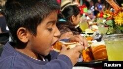 Según las nuevas cifras de la FAO, un siete por ciento de los niños en latinoamerica sufren de obesidad.