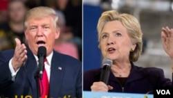 Republican ပါတီ သမၼတေလာင္း DonaldTrumpနဲ႔ ဒီမိုကရက္တစ္ပါတီ သမၼတေလာင္းHillary Clinton