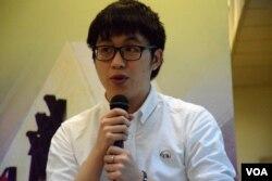 香港樹仁大學學生會內務副會長林俊業。(美國之音湯惠芸攝)
