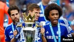 Chelsea, champion d'Angleterre 2015.