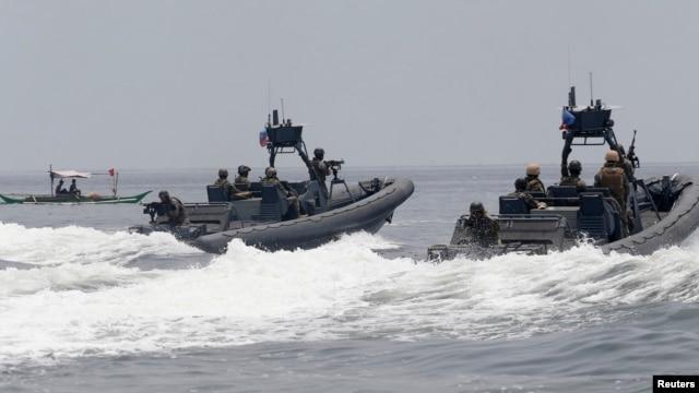 Hải quân Mỹ, Philippines trong cuộc tập trận chung tại Cavite city, phía tây Manila.