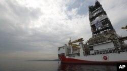 Kapal berbendera Turki 'Yavuz' berangkat dari pelabuhan Dilovasi, luar Istanbul, menuju Mediterania, melintasi Laut Marmara, 20 Juni 2019. (Foto: dok).