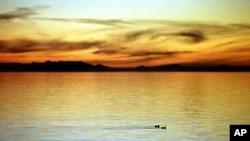 솔트레이크 시티 북서부의 'Great Salt Lake' (자료사진).