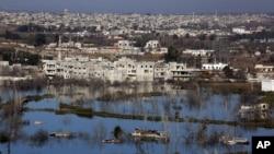 지난 달 8일 시리아 반군 점령 지역인 홈스의 황폐한 주택가. (자료사진)