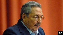 Cuba's President Raul Castro addresses the audience during the National Assembly in Havana, December 23, 2011.