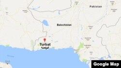 Letak kawasan Turbat, Pakistan