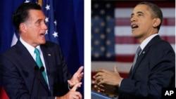 Mitt Romney dan Presiden Barack Obama memperoleh dukungan yang sama kuat dalam jajak pendapat terbaru oleh CBS dan New York Times (foto: dok).