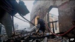 ایمپریس مارکیٹ کراچی میں آتشزدگی،تخریب کاری ہے ، دکاندار