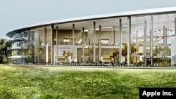 Kantor baru perusahaan Apple di Cupertino, California (foto: ilustrasi). Departemen Kendaraan Bermotor California memberi izin Apple untuk menguji mobil swa-kemudi.