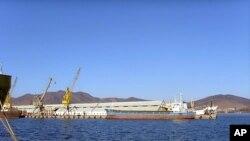 북한 라선특구 지역의 나진항의 모습 (자료사진)