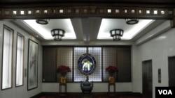 台湾外交部内景(美国之音申华拍摄)