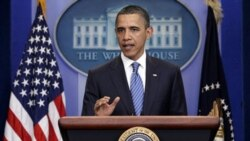 President Obama speaking late Thursday about budget negotiations. This week he also launched his presidential campaign for 2012.