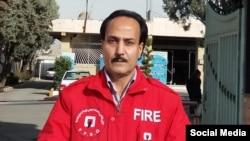 زرتشت احمدی راغب، فعال مدنی و آتش نشان که در سالهای اخیر چندین بار بازداشت و زندانی شد.