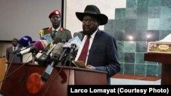Presiden Sudan Selatan Salva Kiir menolak menandatangani perjanjian damai (foto: dok).