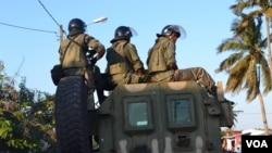 Moçambique Polícia de intervenção rápida Quelimane
