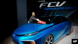 Toyota's FCV, a hydrogen electric concept car.