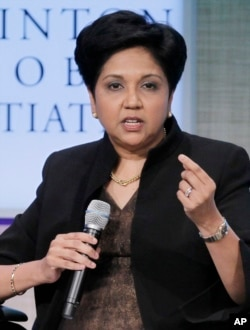 Indra Nooyi, shown in 2011, is CEO of PepsiCo.