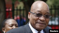 FILE - South Africa's President Jacob Zuma is seen during a visit to Pretoria, Dec. 15, 2015.