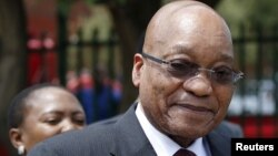 "FILE - South Africa's President Jacob Zuma. Zuma, who had once been implicated in the allegations around the Strategic Arms Procurement Package, usually known simply as ""the arms deal,"" says an independent commission found ""not a single iota of evidence"" that any of the officials involved the deal accepted any bribes."