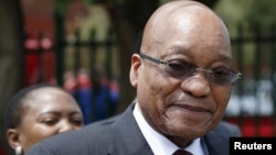 FILE - South Africa's President Jacob Zuma, under fire for misusing government funds, is pictured during a visit to Eersterust, Pretoria, Dec. 15, 2015.