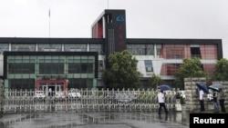 中國長春長生生物科技有限責任公司的大門(2018年7月26日)
