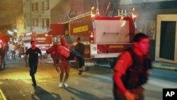 Hộp đêm Kiss trong thành phố Santa Maria, bang Rio Grande do Sul, Brazil bị cháy vào sáng sớm Chủ nhật, 27/1/13