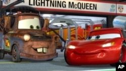 "Lightning McQueen and Mater in ""Cars 2"""
