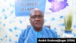 Mahamat Dingadimbaye coordonnateur de la CASIDHO, le 2 juin 2021. (VOA/André Kodmadjingar)