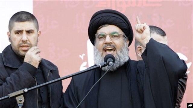 Thủ lĩnh phe Hezbollah Sheik Hassan Nasrallah.