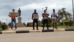 Manifestação em Malanje, Largo Njinga Mbande, Angola