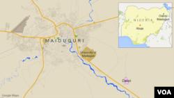 Carte de Maiduguri, Nigeria.