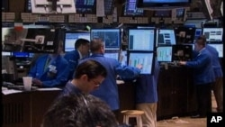 The trading floor at the New York Stock Exchange, one of the world's largest.