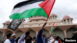 Demonstrasi di Malaysia menolak Amerika yang akui Yerusalem sebagai ibukota Israel.