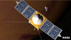 The Mars Atmosphere and Volatile EvolutioN (MAVEN) mission is part of NASA's Mars Scout program, funded by NASA Headquarters.