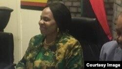 Gurukota rezvekuburitswa kwemashoko, Amai Monica Mutsvangwa