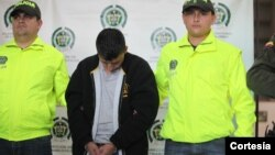 """Dairon Alberto Muñoz Torres, conocido como """"El Indio"""", era el segundo cabecilla de la banda delincuencial colombiana """"Oficina de Envigado"""". [Foto: Policía Colombia]"""