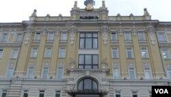 位於莫斯科的羅斯石油公司總部大樓。(美國之音白樺拍攝)