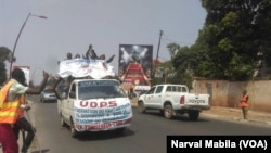Manifestation de l'opposition à Lubumbashi, RDC, le 23 octobre 2017. (VOA/Narval Mabila)