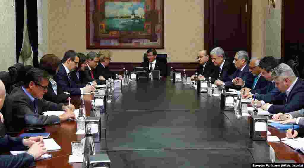 Avrupa Parlamentosu Dış İlişkiler Komitesi üyeleri Başbakan ve Bakanlarla