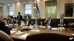 سهرۆک وهزیری ئیسرائیل بنیامین ناتانیاهو و ئهندامانی کابینهتی حکومهتهکهی، (ئهرشیفی وێنه)
