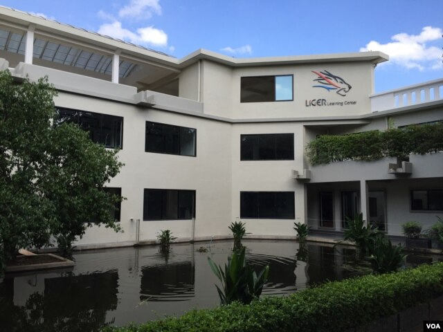 The Liger Learning Center's main building on the non-profit's compound near the Cambodia capital. In addition to the main building, the campus has a science building and dormitories for the students, all of whom live on site and get home five times a year