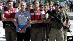 지난 2017년 8월 터키 앙카라에서 쿠데타 가담 혐의 군인들에 대한 재판이 열렸다. (자료사진)