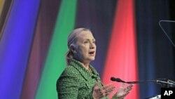 克林頓國務卿在荷蘭發表講話