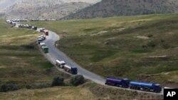 La frontière entre l'Iral et l'Iran, 7 juillet 2010.