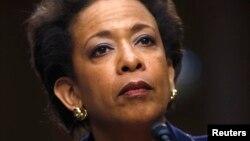 Loretta Lynch, devant la commission du Sénat chargée de la confirmer dans ses fonctions (Reuters)