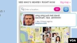 Alguien informando que conoció a David Beckham en los alrededores del Capitolio en Washington.