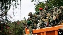 Des miliciens rebelles dans l'est de la République démocratique du Congo (RDC)