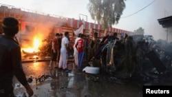 Serangan bom mobil di Samarra, Irak (foto: dok). Militan Irak menyerang Samarra, Kamis (5/6).