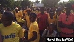 L'opposition s'est rassemblée samedi à Lubumbashi, RDC, le 29 octobre 2016. (VOA/Narval Mabila)