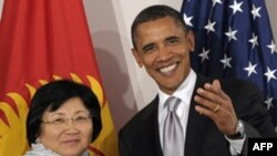 Роза Отунбаева и Барак Обама